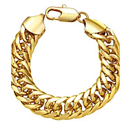 Chaînes & Bracelets 1pc,Doré / Or Rose Bracelet Cuivre / Plaqué or / Plaqué Or Rose Bijoux Femme