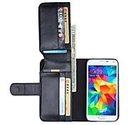 Teléfono Móvil Samsung - Carcasas de Cuerpo Completo - Color Sólido - para Samsung Samsung Galaxy S6 ( Negro/Blanco/Marrón , Cuero PU )
