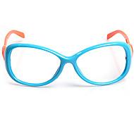 [Frame Only] Kids' Candy Colored Oval Full-Rim Eyeglasses(Random Color)