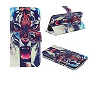 High Quality Painted Tigers PU Hard Case with Stand  for iPhone 6