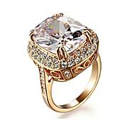 Statementringe Kristall Krystall vergoldet Imitation Diamant Luxus-Schmuck Golden Schmuck Hochzeit Party Alltag Normal 1 Stück