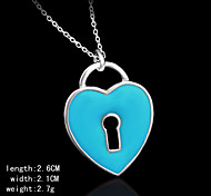 Silver Plated  Fashion Heart Shape Charm Pendents