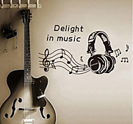 Environmental Removable Delight in Music Tags & Sticker