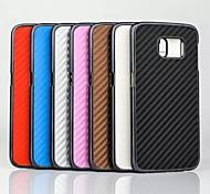 Matte Weben Plastikabdeckung Maserung für Rand s6 Samsung Galaxy