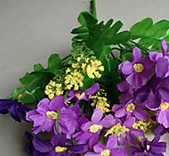 Set of 5 Fabric Dasies Purple Color