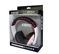 KOMC K3 3.5mm Headphone Earphone Headset For Mobile Phone Skype iPod Touch 4 (White-Red and White-Blue)