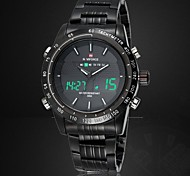 Men's Japanese Quartz Analog-Digital LED/Water Resistant/Full Steel Military Sports Watch (Assorted Colors)