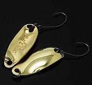 B.J.F® Metal Spoons 2.5g/6pcs/28mm Golden Fishing Lures