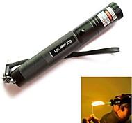 ls316 301 con llave ajustable quema verde linterna puntero láser (5mW, 532nm, b1x18650, negro)