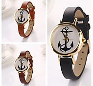 Women  Leath Anchor   Leather Quartz Wristwatches  (Assorted Colors)