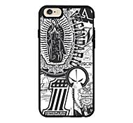 Notre Dame Black and white Pattern With TPU Soft Case Fits The Silicone Mobile Phone Shell of IPhone 6