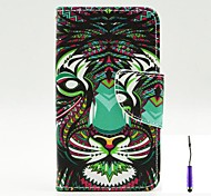 The Lion Pattern PU Leather Case Cover with A Touch Pen ,Stand and Card Holder for Nokia Lumia 530