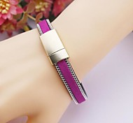 Hand Woven Folk Style Leather Hand Retro Alloy Bracelet (Various Colors)