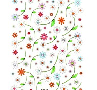 1PC Hot 3D Nail Art Stickers Trendy Nail Wraps Nail Decals Cute Flower Nail Polish Decorations
