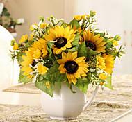 Une succursale Soie Tournesols Fleur de Table Fleurs artificielles 23 x 15 x 15(9.06'' x 5.91'' x 5.91'')