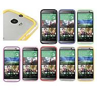 BIG D Transparent TPU and PC Bumper for HTC One M8(Assorted Color)