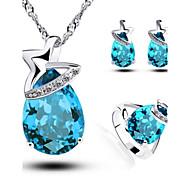 Women's 3pcs Jewelry Sets Water Drop Handmede Jewelry Sets
