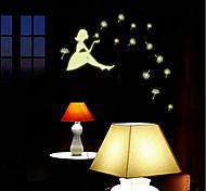 luminoso della parete del PVC ragazza di sognare