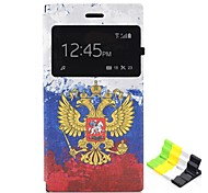 Totem Pattern Aromatized PU Leather Case with Stand for Nokia N730