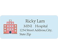 Personalized Product Labels / Address Labels Hospital Pattern Blue Film Paper
