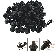 A0018 100 Pcs Car Interior Panel Trim Clips Black Plastic Rivet