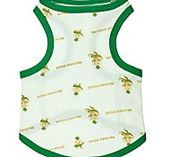 Baby Policeman Pattern Cotton Green/Blue Boundary White Vest for Pets Dogs (Assorted Sizes)