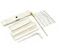 jtron yale lámina de bloqueo recoger el kit de herramientas - plata