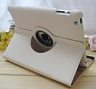 360⁰ Cases ( Cuir PU , Noir/Blanc ) - Couleur unie pour Pomme iPad 2/iPad 4/iPad 3