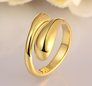Ring Adjustable Party Jewelry Alloy / Rose Gold Plated Women Statement Rings 1pc,One Size Gold