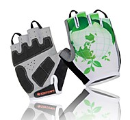 WEST BIKING® Cycling Half Finger Breathable Spring and Summer Polyester Green Life Mountain Bike Glove
