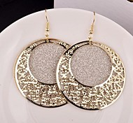 2015 Stylish Retro Court Hollow Irregular Lady Frosted Earrings