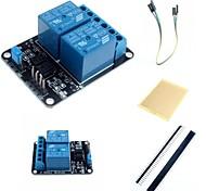 2-Kanal Elektrorelaismodul Relaiserweiterungsplatine mit Optokoppler und Zubehör für die Arduino