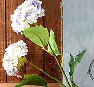 Two Head Light Purple Hyfrangeas Artifical Flowers Set 3