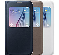 Window View Flip Case for Samsung Galaxy S6 Edge Plus(Assorted Colors)