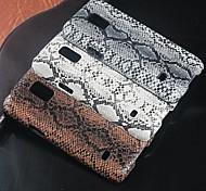 piel de pitón patrón de diseño de la cubierta dura para el mini samsung galaxy s5