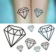 Diamonds Gem Crystal Tattoo Stickers Temporary Tattoos(1 pc)