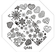 Nail Art Stamp Stamping Image Template Plate QA Series NO.86