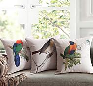 lençóis de algodão almofada impressão lovebird