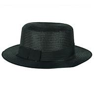 Unisex Summer Straw Bowler/Cloche Hat