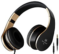 Sound Intone Folding 3.5mm Stereo Over-ear Headphones Headsets Leather Earpad with Build-in Microphone