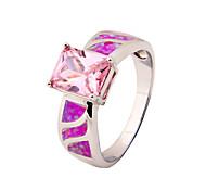 High Quality Fashion Platinum Opal Pink Ring