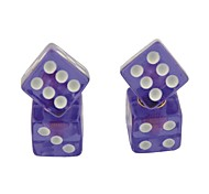 Car Vehicle Cube Shape Dice Style Tire Valve Caps(4PCS)