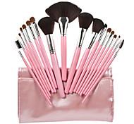 18pcs высшего сорта профессиональная косметика для макияжа кисть с розовой сумкой