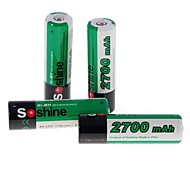 Soshine 2700mAh Ni-MH Rechargeable AA Batteries with Case (4 PCS/Set)