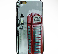 Red Telephone Booth Pattern hard Case for iPhone 6