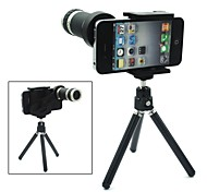 Universal 8X Zoom Telescope Camera Lens with Adjustable Tripod Holder for iPhone and Others