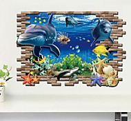 3D Wall Stickers Wall Decals,The Ocean PVC Wall Stickers