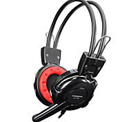CT-779 Stereo Headset Headphones with Microphone + Volume Control - Black (220cm-Cable)