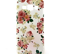 Rose Pattern TPU Soft Case for Samsung Galaxy A3/A3000