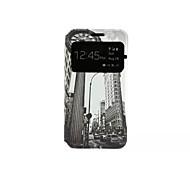 Pour Samsung Galaxy Coque Avec Support Clapet Motif Coque Coque Intégrale Coque Paysage Urbain Cuir PU pour Samsung A3